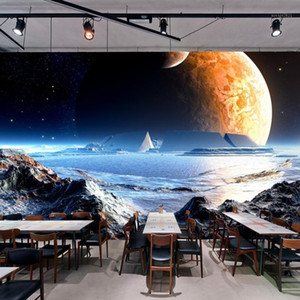 Dropship Custom Mural 3D Stereo Custom Wallpaper Dream of The Universe Milky Way Star Mural Background Wall Papers Home Decor1