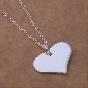 Special Valentine's Gift Explosion Models Silver Color Necklaces Fashion Women Cordate Necklace Classic Models Jewelry H bbyqqp