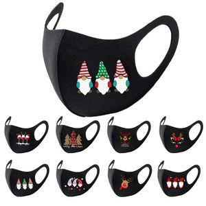 masque design Noël Santa impression masque bouche concepteur masque girafe adulte Livraison gratuite antipoussière brouillard classique masque facial noir