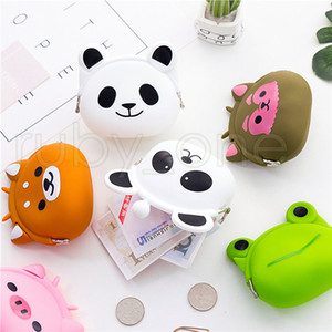 Silicone Coin Purse Animals Shape Small Change Wallet Mini Coin Bag For Girls Boys Children Kids Gifts 13styles RRA3723