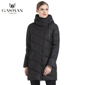 Gasman Fashion Hooded Parka Marca para la chaqueta abajo Invierno Grueso Overcoat Mujeres Jacets y Coat 18806 Y201001
