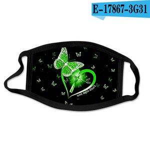 Butterfly Padrão 3D Impressão Designer Face Mask com algodão Reusável Face Masks Out Door Esporte Equitação Máscaras de Moda Mask Mask HHD4758