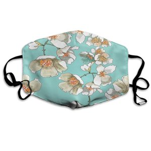 Doumku Jasmine Flowers Mouth Cover Blossom Floral Botany Plant Nature Spring Garden Unisex Anti Dust Ear Loops Reusle Washle Mouth Protectio