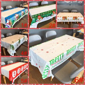 Tablecloth Christmas New 110*180cm Merry Natal Decorations PVC Tablewear BH4335 Xmas Covers Ornaments Disposable Year Christmas Table W Ihxw