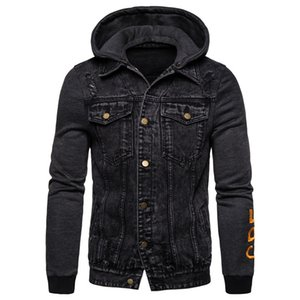 New Autumn Winter Mens Hoodied Jackets Casual Style Jeans Jacket Men Outwear Cotton Denim Jackets Mens Coats And Jackets 201004