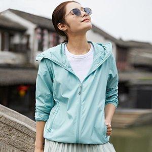 Tragbare mit Kapuze Sun-Proof-Kleidung Superlicht dünn Dünne Outwear Sommer Outdoor Sun-Protective Bluse Anit-UV Winddichtes Hemd Paar1