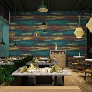 Lancadeco PVC Fond d'écran d'art moderne nordique fond coloré Home Décor étanche Livingroom Chambre Bar Restaurant Roll uJhT #