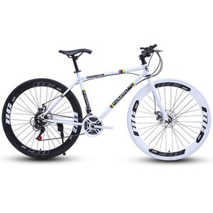 700c Road Bike Double Disc Brake 24 27 Speed Dead Fly Fixed Gear 60 Knife Wheel for Adult Students