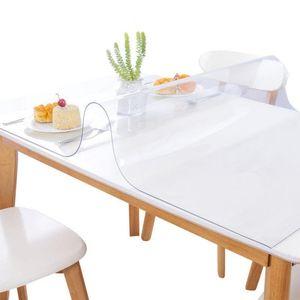 Su geçirmez PVC masa örtüsü masa örtüsü şeffaf masa örtüsü mat mutfak desen yağ bez cam yumuşak masa örtüsü dekorasyon