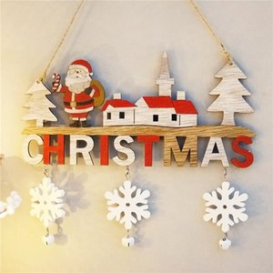 Hot Sale Fashion Christmas Hanging Pendants, Santa Clause Letters Wooden Decorative Ornaments Christmas Decorations Xmas Gifts