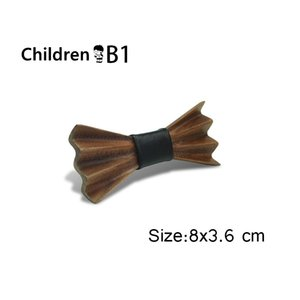 Wooden Bow Tie for Adult and Children Real Natural Handmade Wooden Bowtie 200924