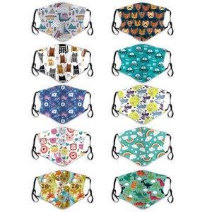 Neue modische Cartoon-Masken für Kinder PM2.5 Staub und Smog-Atemschutzgeräte können für Kinder und Babys bwc1727 waschbar sein