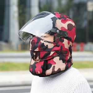 Winter Trappermütze mit Goggle Warm Earflap Bomber-Hut-Kappen Männer Frauen Thermal-Hut Earflap Schnee Skimütze IIA748