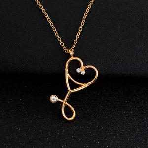 Stethoscope necklace Heart stethoscope pendant with rhinestone necklace Doctor Nurse Graduation Gift