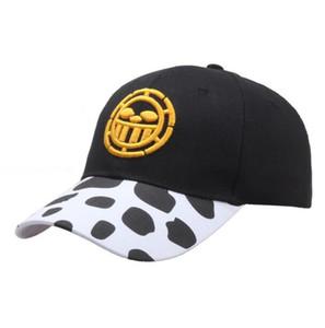منحني 2020 الجديدة قطعة واحدة Trafalgarro الرجال والنساء أنيمي الهيب هوب حافة قبعة بيسبول لوح التزلج الهيب هوب قبعة قبعة الصيف