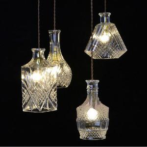 Modern Minimalist Vintage Wine Bottle Pendant Lights CafeRoom Bar Lamp Single Glass Pendant Lamps Decoration Indoor Lighting E27 - I479