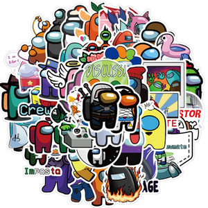 50 unids juego entre nosotros Pegatinas de graffiti juego Anime Pegatinas Toy Equipaje Portátil Guitarra Impermeable Etiquetas de pared sin dejar pegamento