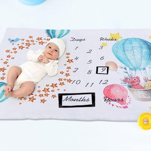Flannel Blanket Good Skin-friendly Warmth High Comfort Balloon Backdrop Cloth Baby Growth Anniversary Photography Prop