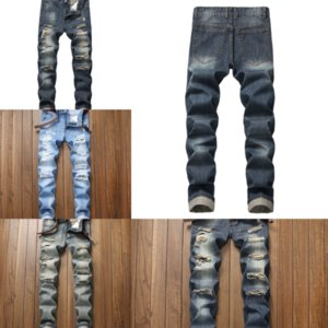 rJAR7 mens designer man s casual jeans cargo dener straight rock hole jeans jeans drew pants drew man trousers house hiphop washed