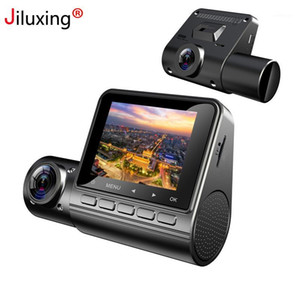 Jiluxing 2 '' Dash Camera FHD 1080 P Araba DVR Çift Lens Araç Kamera Video Kaydedici Oto Registrator ile Dahili 1080p1