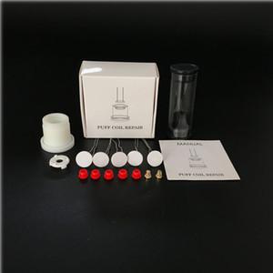 Kit de réparation de bobine de pointe de réparation de pic avec 5 pcs Élément de bobine de chauffage d'épaisseur de 1,3 mm avec des œillets et un a atomiseur et une goupille de gabarits d'alimentation