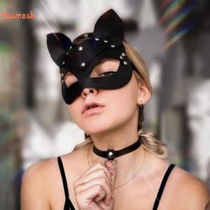 Cosmask halloween sexy noire catwoman Batman moitié visage mask mask costume accessoire carnaval pansement danse