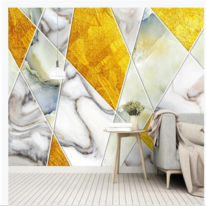 Simple window mural wallpaper personality retro abstract geometric marble wallpapers TV background wall