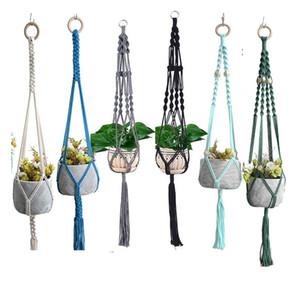 Colorful Macrame Plant Hanger Plant Hanger for Home Decoration for Garden Flower Hanger Hanging Planter Basket