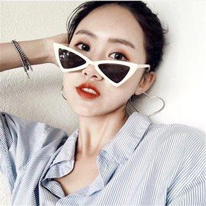 Мода Cat Eye Солнцезащитные очки Женщины Brand Design Ретро треугольник Bat кадров Личность Hip Hop Стиль очки Multicolor Дополнительный UV