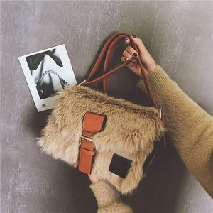 Fur Bag Crossbody Handbags For Women 2021 Fluffy Pouch Bolsos Para Mujer Torebka Listonoszka Furry Pochette Tasche