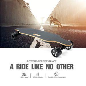 US Warehouse stock 4 Wheel Cheap Longboard electric skateboard with 90mm wheel 40km h Sports 11A Skateboard Electric scooter W34807114