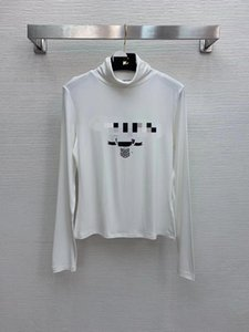 128 2021 Primavera Brand Same Style Style Style Manica Lunga Nero Bianco Turtle Neck Moda Donna Abiti da donna di alta qualità PullOver Donne Nishi