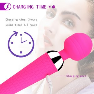 Powerful Oral Clit Vibrators USB Charge Av Magic Wand Vibrator Anal Massager Adult Sex Toys For Women Safe Silicone Sex Product
