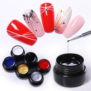 Nail Art UV Gel Drawing Elastic Line Painting Gel Lacquer Silk Spider Doodle Nail Polishing