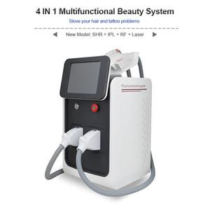 Опция IPL удаление волос ND YAG лазерная машина для удаления татуировки 4 в 1 SHR Постоянная машина для удаления волос