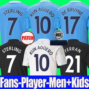Fans player version 2020 2021 STERLING DE BRUYNE KUN AGUERO 20 21 manchester soccer jersey city jersey football shirt men kids kit set
