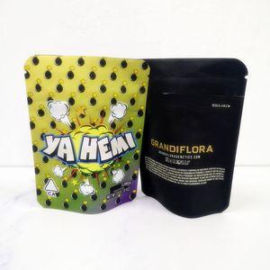 Chegada Nova 3.5g homem da Califórnia cookies Yahemi Grandiflora Rosa Rozay Lemon pimenta Neve bolo Mix Gary Payton sacos para embalagem