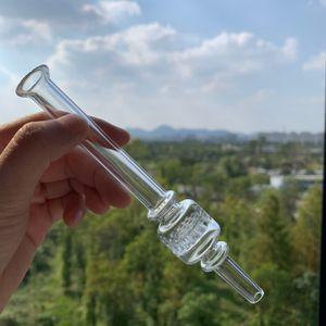 6 pulgadas mini colector néctar tubo grueso claras puntas con filtro de vidrio de vidrio pyrex pyrex quemador de aceite tubo de tabaco de pipa