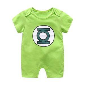 Детские Romper мультфильм печати Solid Color Комбинезон для новорожденных Onesie Малыш Повседневные комплекты костюмы New Born Super Hero Baby Girl Одежда