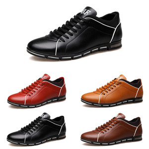 2021 men running shoes fashion trainers triple black brown red blue mens sports sneakers size 40-45 style #32