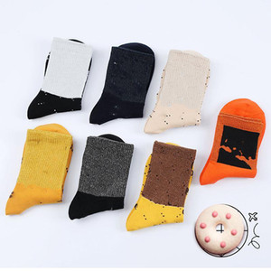 5Pair / lote Home Textil Moda Moda Mujeres Calcetines en Tube Designer Socks Calcetines de diseño de lujo Invierno Cálido Algodón HWB3999