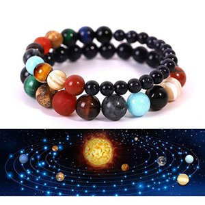 Universe Galaxy Fashion Bracelet Lovers Constellation Jewelry Beads Bracelets Strands Planets Chain Small Gift New Arrival 6 5fy G2B