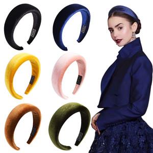 Colori solidi Spugna Fascia Donne Wide Headwear Accessori per Capelli Femmina Sweet Wide Hair Hoop Hairband per gioielli Tiara Accessori per capelli