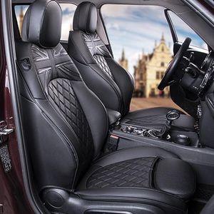 Assento de carro cobre a tampa de proteção completo Envoltório de couro para mini F54 F55 F56 F60 R56 R60 Decoração de Interiores Estilo1