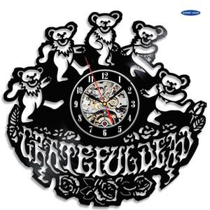 Regalo lindo para aficionados Grateful Dead, The Vintage Vinyl Saat reloj de pared, reloj de alarma de reloj Saat