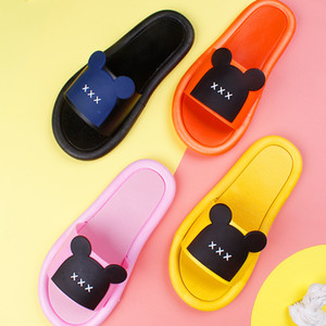 New Parent-Child Fashion Slippers Female Summer Students Cartoon Home Couples Sandals Outer Wear Soft Bottom Cute Flip-Flops
