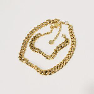 Explosion Classic Designer Bijoux Dame 14k Gold Fashion Collier Bracelet de haute qualité Pure Matériau de cuivre pur