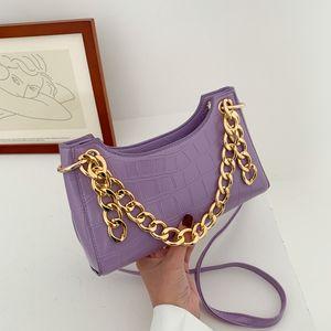 HBP Purple Tragetaschen für Frauen Vintage Handtasche Mini Leder Schulter
