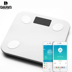 Sdarisb corpo gordo escala piso científico inteligente eletrônico led weight banheiro balanço Bluetooth app android ou ios t200117