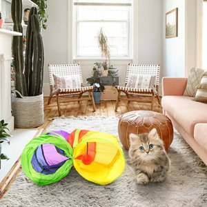 Practical Cat Tunnel Pet Tube Collapsible Play Toy Indoor Outdoor Kitty Puppy Toys For Puzzle Exercising Hiding Training And R wmtcYk